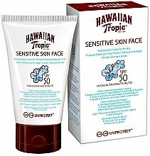 Fragrances, Perfumes, Cosmetics Sun Lotion for Sensitive Face Skin - Hawaiian Tropic Sensitive Skin Face Lotion SPF50