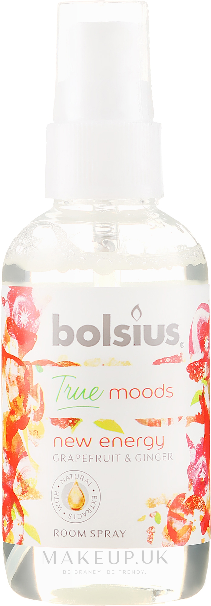 "Aromatic Spray ""Grapefruit and Ginger"" - Bolsius Room Spray True Moods New Energy — photo 75 ml"