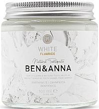 Fragrances, Perfumes, Cosmetics Natural Toothpaste - Ben & Anna White Fluoride Toothpaste