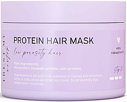 Fragrances, Perfumes, Cosmetics Protein Mask for Low Porosity Hair  - Trust My Sister Low Porosity Hair Protein Mask