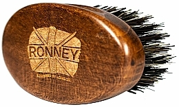 Fragrances, Perfumes, Cosmetics Wooden Beard Comb with Natural Bristles, dark - Ronney Professional Barber Small Brush