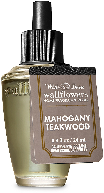 Bath And Body Works White Barn Mahogany Teakwood Wallflowers Fragrance - Aroma Diffuser (refill) — photo N1