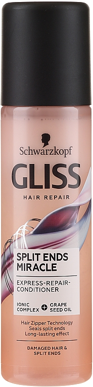 Conditioner for Damaged Hair & Split Ends - Schwarzkopf Gliss Split Ends Miracle Express-Repair Conditioner