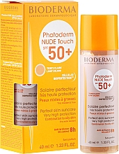 Fragrances, Perfumes, Cosmetics Tinted Sunscreen - Bioderma Photoderm Nude Touch Golden Color Spf 50+