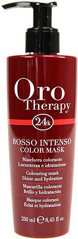 """Coloring Hair Mask """"Red"""" - Fanola Oro Therapy Colouring Mask"""