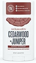 """Fragrances, Perfumes, Cosmetics Natural Deodorant """"Cedarwood & Juniper"""" in Stick - Schmidt's Deodorant Cedarwood Juniper"""