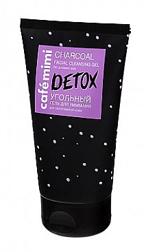 Charcoal Face Cleansing Gel - Cafe Mimi Detox