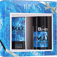 Fragrances, Perfumes, Cosmetics Bi-es Max Ice Freshness For Man - Set (h/shm/250ml + deo/150ml)
