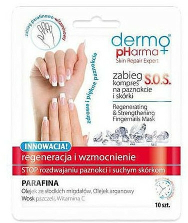 Nail Regenerating Compressed Mask - Dermo Pharma Skin Repair Expert S.O.S. Regenerating& Strengthening Fingernails Mask