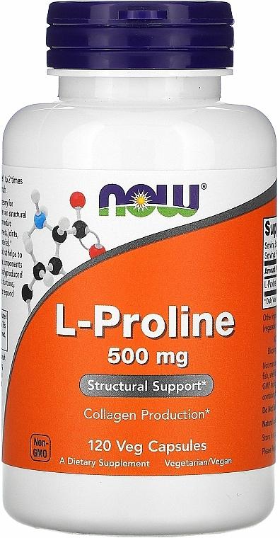 Capsules L-Proline for Joints, 500 mg. - Now Foods L-proline