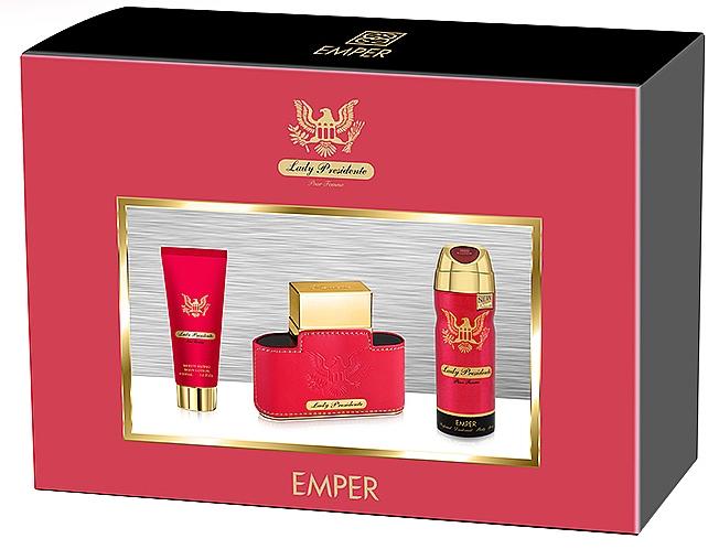 Emper Lady Presidente - Set (edp/80ml + deo/200ml + b/lot/100ml)