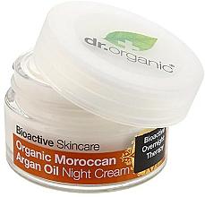 "Fragrances, Perfumes, Cosmetics Night Body Cream ""Moroccan Argan Oil"" - Dr. Organic Bioactive Skincare Organic Moroccan Argan Oil Night Cream"