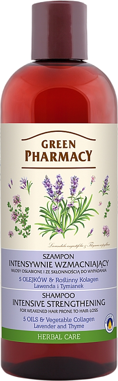 Anti Hair Loss Lavender & Thyme Shampoo for Weak Hair - Green Pharmacy