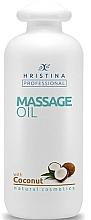 Fragrances, Perfumes, Cosmetics Coconut Massage Oil - Hristina Professional Coconut Massage Oil