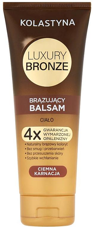 Self Tanning Balm for Dark Skin - Kolastyna Luxury Bronze Tanning Balm
