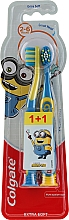 """Fragrances, Perfumes, Cosmetics Kids Toothbrush """"Smiles"""", 2-6 years, yellow and blue, extra soft - Colgate Smiles Kids Extra Soft"""