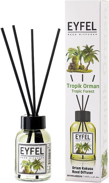 """Reed Diffuser """"Tropic Forest"""" - Eyfel Perfume Reed Diffuser Tropic Forest"""
