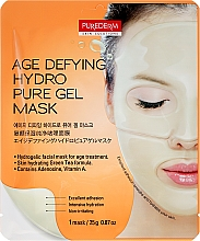Fragrances, Perfumes, Cosmetics Anti-Aging Hydrogel Face Mask - Purederm Age Defying Hydro Pure Gel Mask