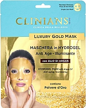 Fragrances, Perfumes, Cosmetics Hydrogel Face Mask with Argan Oil - Clinians Hydrogel Mask With Argan Oil And Golden Powder