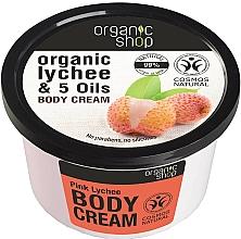 "Fragrances, Perfumes, Cosmetics Body Cream ""Pink Lychee"" - Organic Shop Body Cream Organic Lichee & Oils"