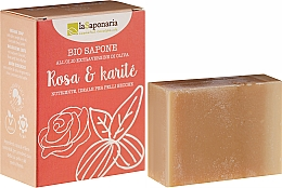 Fragrances, Perfumes, Cosmetics Rose and Shea Butter Soap - La Saponaria Rose & Shea Butter Soap