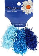 Fragrances, Perfumes, Cosmetics Elastic Hair Bands, 21695, blue & dark blue, 3 pcs - Top Choice