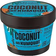 "Fragrances, Perfumes, Cosmetics Body Cream ""Coconut and Kumquat"" - Cafe Mimi Body Cream Coconut And Kumquat"
