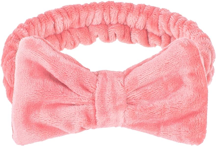 "Cosmetic Hair Band, coral ""Wow Bow"" - Makeup Coral Hair Band"