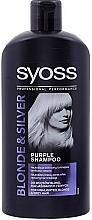 Fragrances, Perfumes, Cosmetics Anti-Yellow Shampoo - Syoss Blond & Silver Shampoo