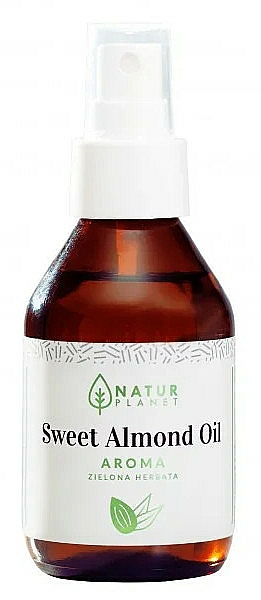 Sweet Almond Oil with Green Tea Scent - Natur Planet Sweet Almond Oil Aroma Green Tea