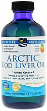 """Fragrances, Perfumes, Cosmetics Dietary Supplement with Orange Flavor 1060 mg """"Omega-3"""" - Nordic Naturals Arctic Cod Liver Oil"""