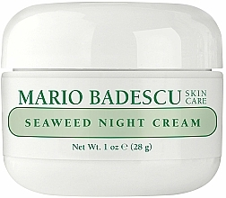 Fragrances, Perfumes, Cosmetics Seaweed Night Cream - Mario Badescu Seaweed Night Cream