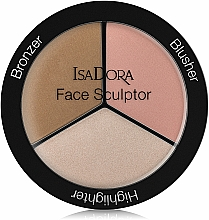 Fragrances, Perfumes, Cosmetics Face Contour Palette - IsaDora Face Sculptor