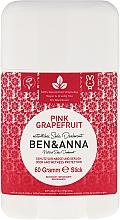 """Fragrances, Perfumes, Cosmetics Soda Deodorant """"Pink Grapefruit"""" (plastic) - Ben & Anna Natural Soda Deodorant Pink Grapefruit"""