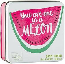 Fragrances, Perfumes, Cosmetics Melon Body Soap - Scottish Fine Soap in a Tin Fruits Melon Soap
