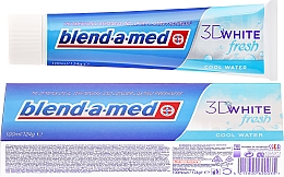 """Fragrances, Perfumes, Cosmetics Toothpaste """"Fresh Cool"""" - Blend-a-med 3D White Fresh Cool Water Toothpaste"""