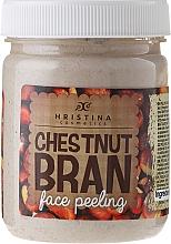 Fragrances, Perfumes, Cosmetics Chestnut Bran Face Peeling - Hristina Cosmetics Chestnut Bran Face Peeling