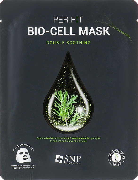 Tea Tree Bio-Cell Mask - SNP Double Synergy Soothing Bio-Cell Mask — photo N1