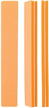 Fragrances, Perfumes, Cosmetics Double-Sided Nail Buffer, straight 100/180, orange - Tools For Beauty Straight Orange