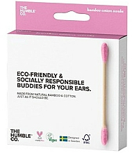 Fragrances, Perfumes, Cosmetics Bamboo Cotton Swabs - The Humble Co. Cotton Swabs Pink