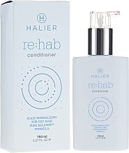 Fragrances, Perfumes, Cosmetics Normalizing Conditioner for Oily Hair - Halier Re:hab Conditioner