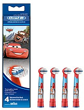 Fragrances, Perfumes, Cosmetics Kids Replacement Brush Heads EB10-4, Cars - Oral-B Stages Power Disney
