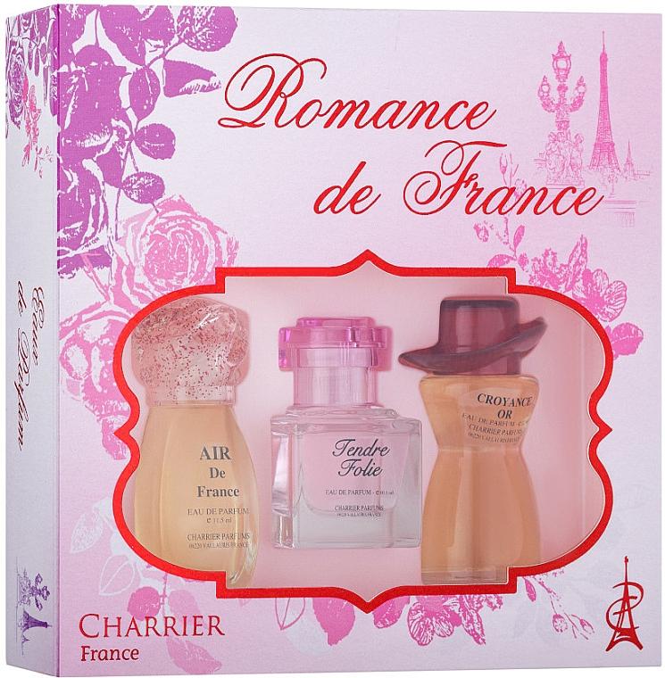 Charrier Parfums Romance De France - Set (edp/11.5ml+edp/10.1ml+edp/12ml)