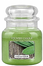 Fragrances, Perfumes, Cosmetics Scented Candle - Country Candle Sage and Cedar