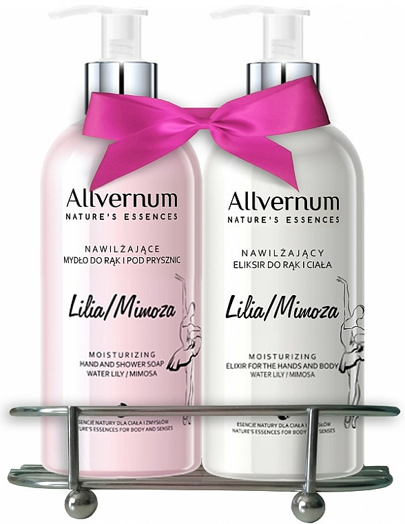 """Set """"Lily and Mimosa"""" - Allverne Nature's Essences (soap/300ml + elixir/300ml)"""