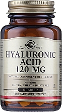 "Fragrances, Perfumes, Cosmetics Dietary Supplement ""Hyaluronic Acid"" 120 mg - Solgar Hyaluronic Acid"