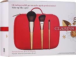 Fragrances, Perfumes, Cosmetics Makeup Brush Set - Clarins (brush/3pcs + bag)