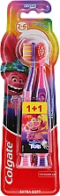 "Fragrances, Perfumes, Cosmetics Kids Toothbrush ""Smiles"", 2-6 years, purple and pink, extra soft - Colgate Smiles Kids Extra Soft"