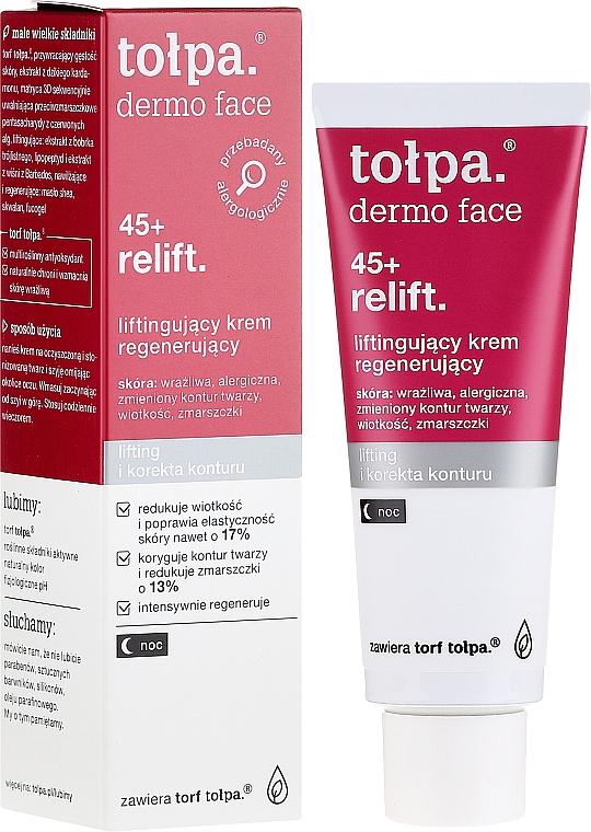Repairing Night Face Cream - Tolpa Dermo Face Relift 45+ Night Cream