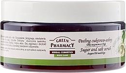 """Fragrances, Perfumes, Cosmetics Sugar-Salt Scrub """"Argana and Fig"""" - Green Pharmacy"""